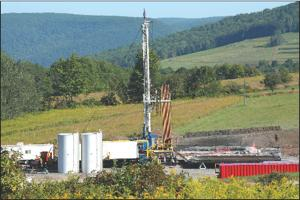 Gas well drilled