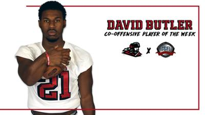 Butler named CSFL Co-Offensive Player of the Week