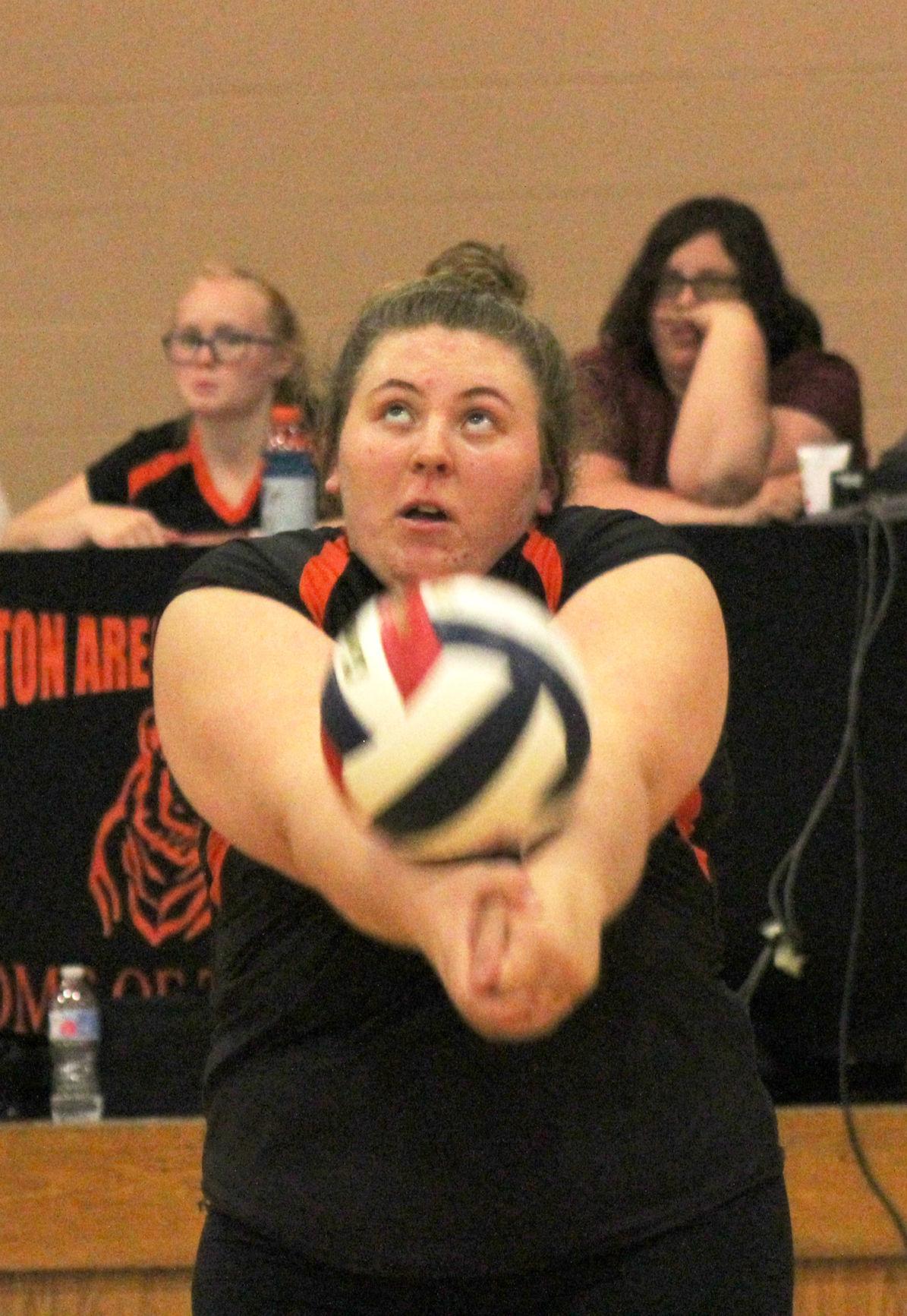 Maddie Sauley contributed five kills Tuesday