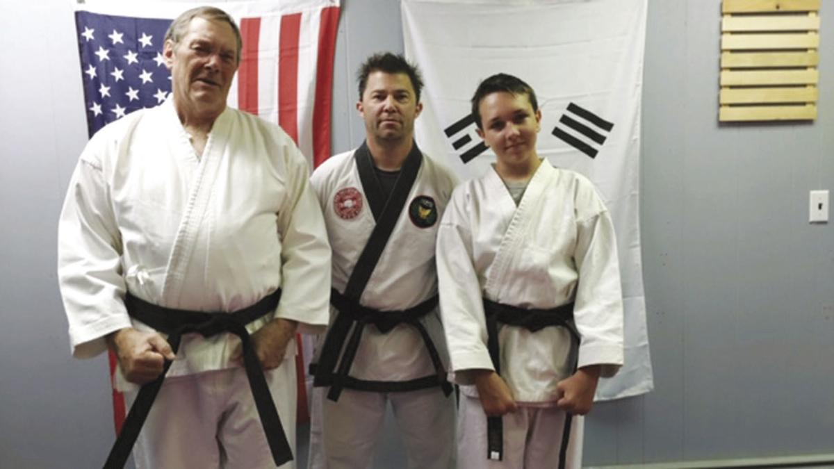 Two tested for and promoted to blackbelt