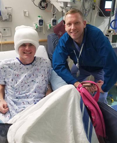 Zach McCloskey with Dr. Ben Kennedy
