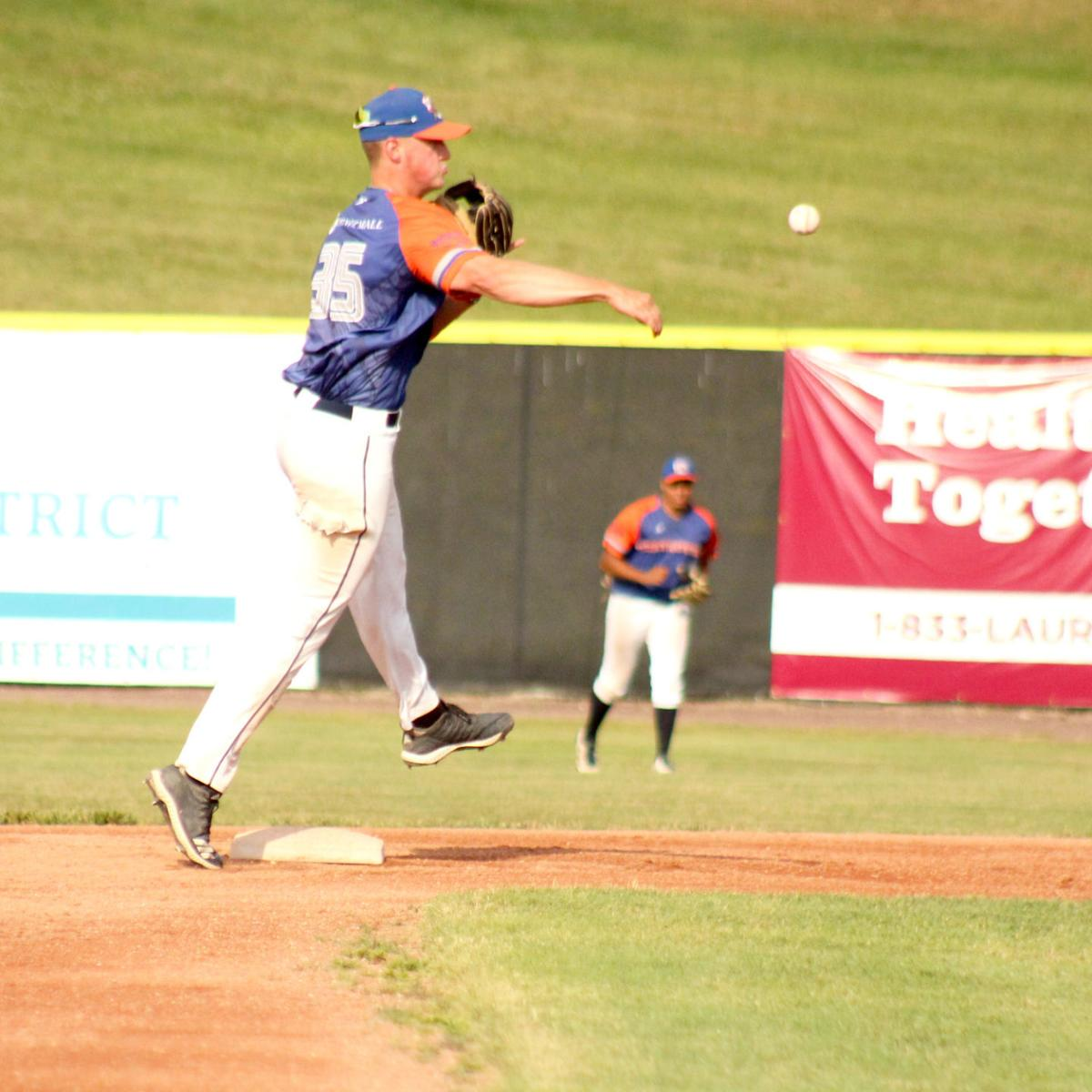 Devan Nail makes the out from shortstop