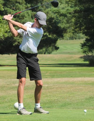 Andrew Green tees off at Corey Creek Country Club