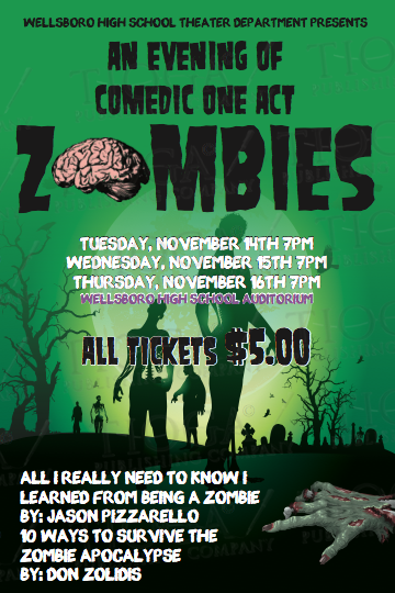 Wellsboro high school showcases comedy one-act plays about zombie
