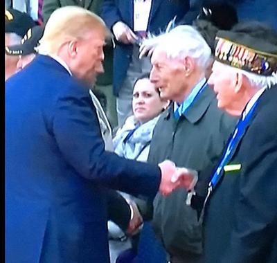 Dr. Bair shakes hands with President Donald Trump