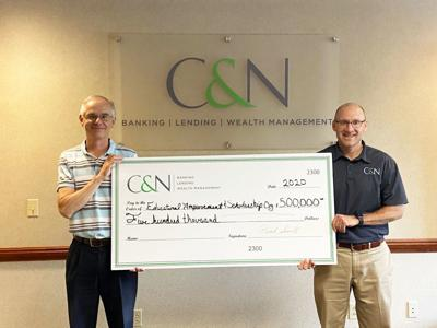 C&N bank support education