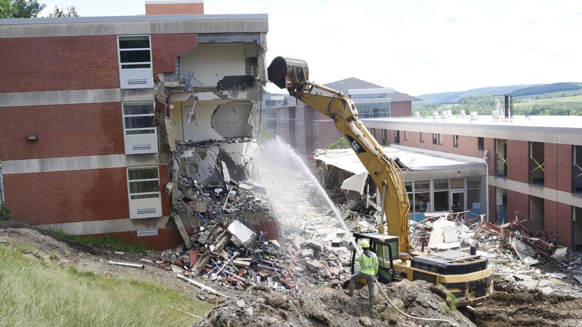 Demolition begins on university buildings