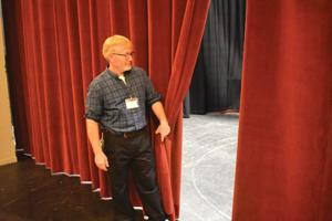 Colestock Auditorium welcomes new curtains to the stage
