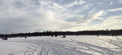 A day on the ice in Canadohta, hard water anglers dig in for fishing tournament