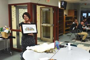 Reception held for outgoing  superintendent