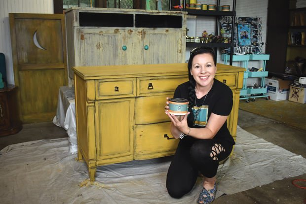 Online furniture painter moves to town