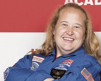 Lifelong spaceflight fan enjoyed her week's visit to Space Camp