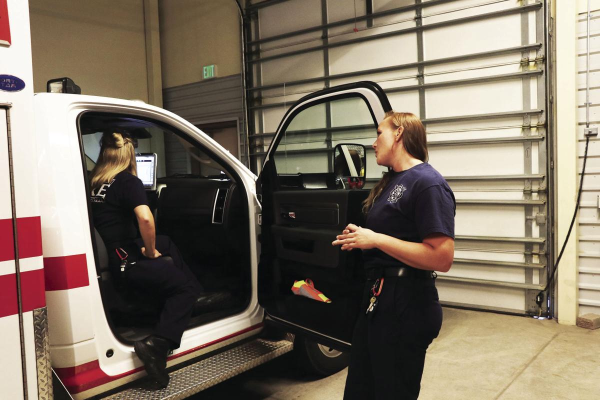 Meeting only county dual-woman ambulance crew