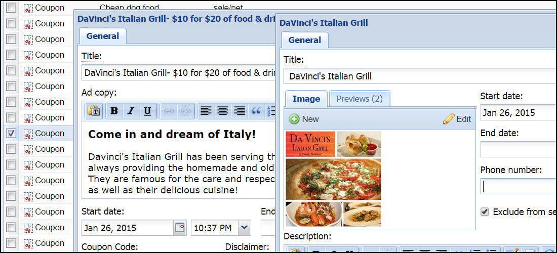BLOX Classifieds: Creating a coupon