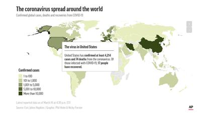 AP Coverage map Coronavirus example