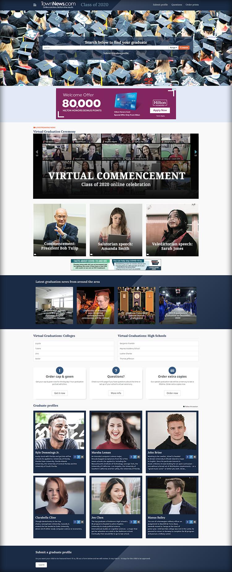 Screenshot: Virtual Graduations 2020