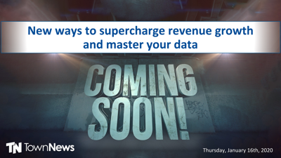 Webinar |  New ways to supercharge revenue growth and master your data - January 2020