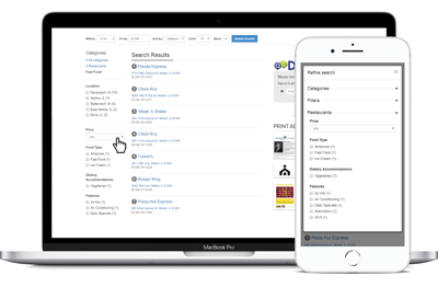 Faceted Search for Business Directory