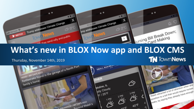 Webinar: What's new in the BLOX Now app and BLOX CMS (November 2019)