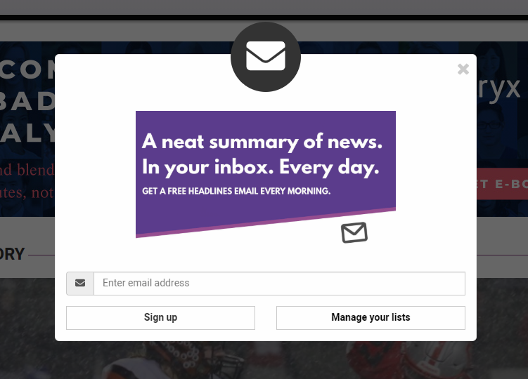 Email sign-up optimization
