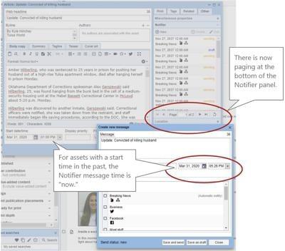 BLOX Notifier improvements
