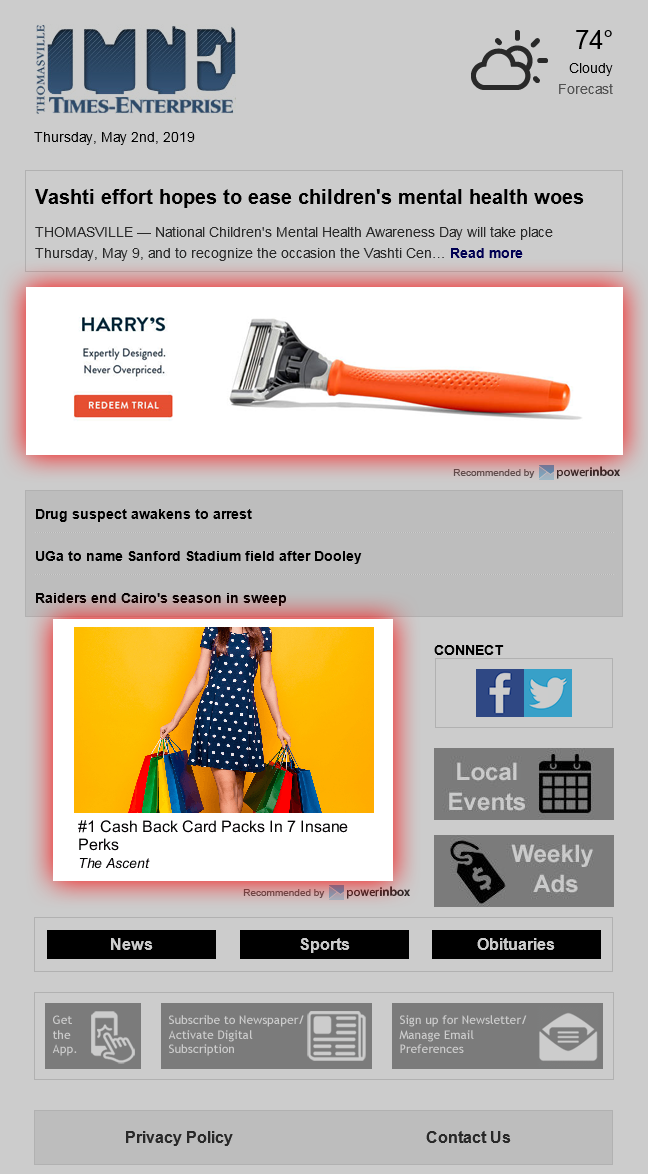 Programmatic banner ads for email campaigns