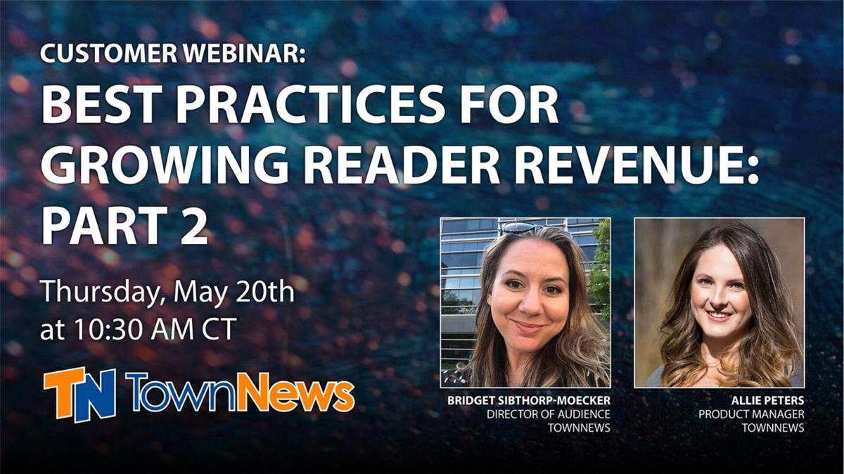 Webinar slide deck: Best practices for growing reader revenue: Part 2