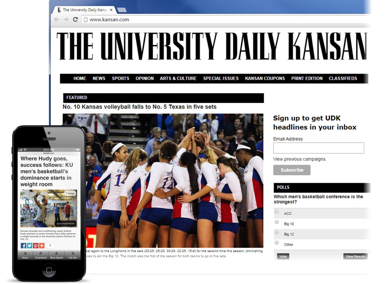 The University Daily Kansan goes digital-first with BLOX CMS
