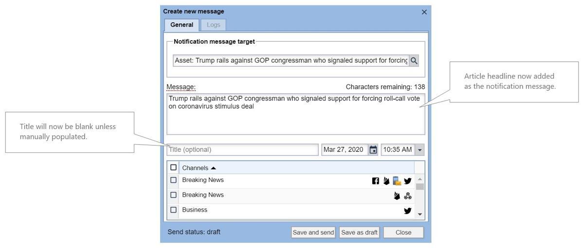BLOX Notifier changes