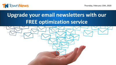Webinar | Upgrade your email newsletters with our FREE optimization service - February 2020