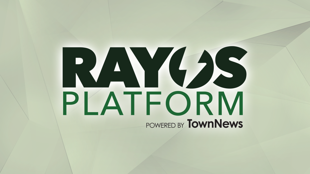 Rayos Platform logo on tech background