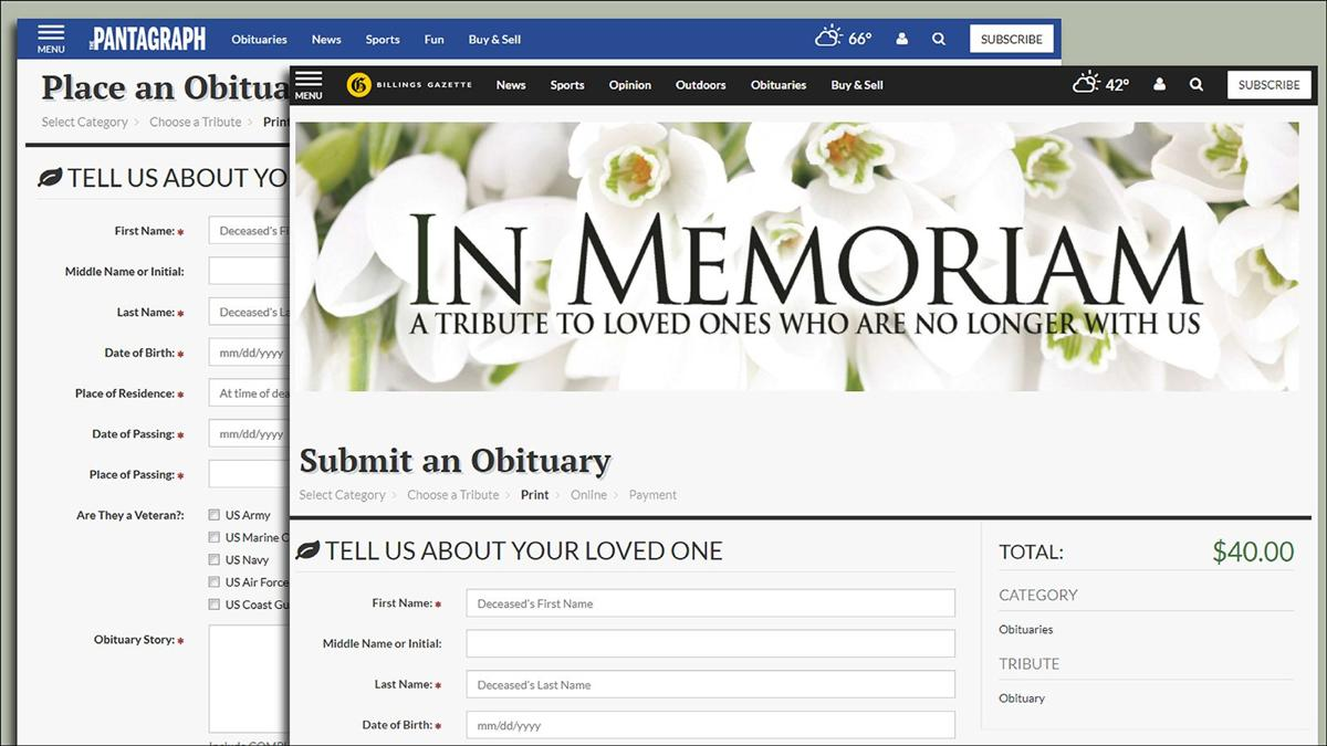 Lee Online Obits