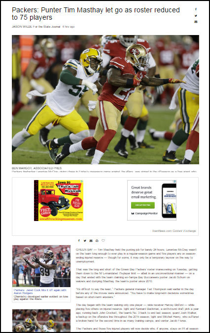 Screenshot: Content Exchange NFL channel