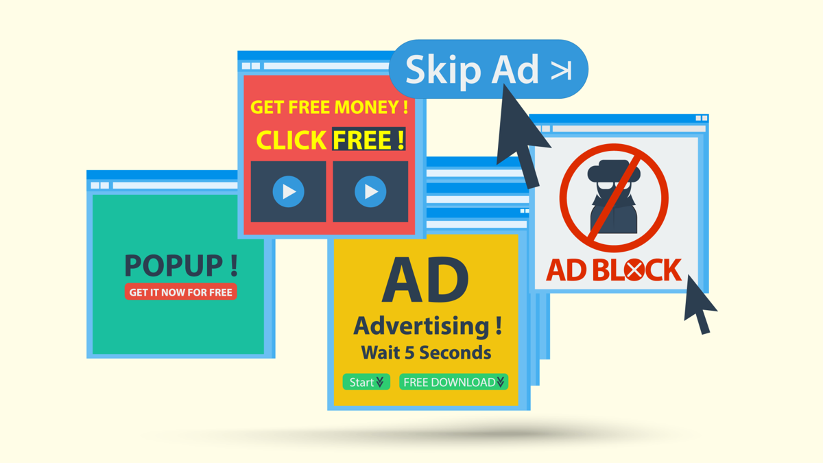 Annoying ads graphic