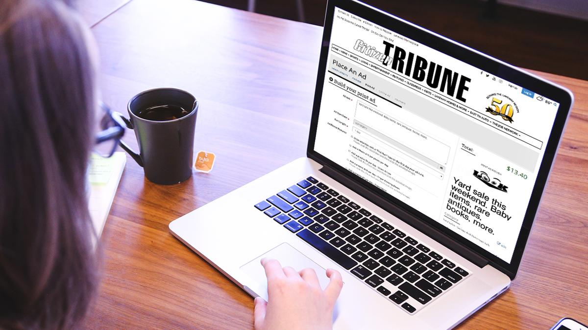 Citizen tribune Ad-Owl laptop