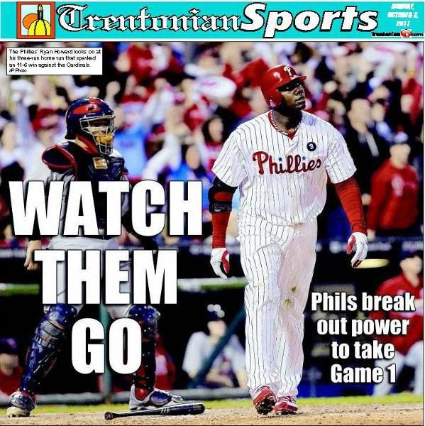 PHILLIES: Howard powers offense to big win in Game 1