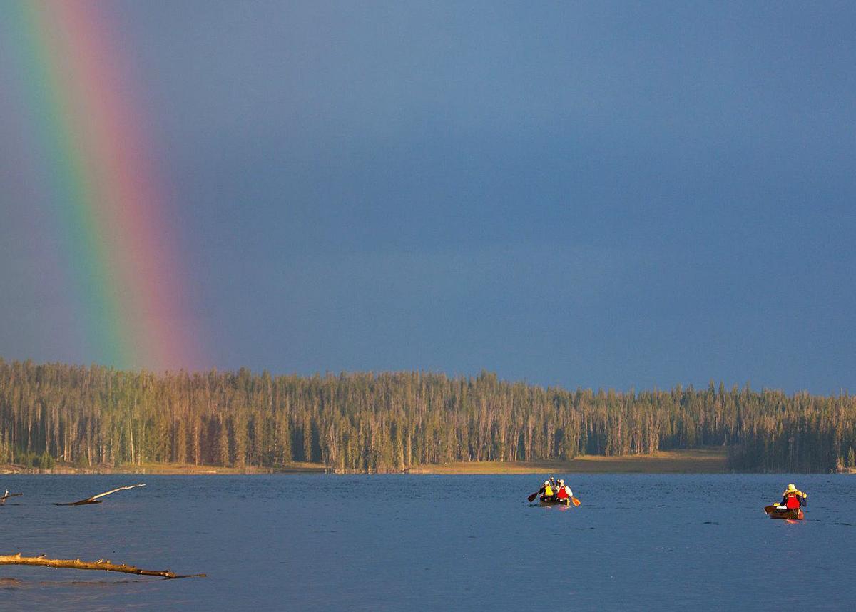 Canoeing Yellowstone Lake