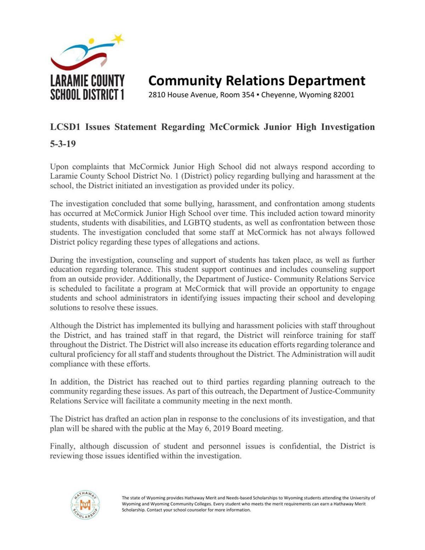 LCSD1 statement 5.3.19