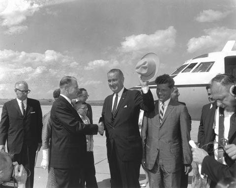 Lyndon B. Johnson in Cheyenne