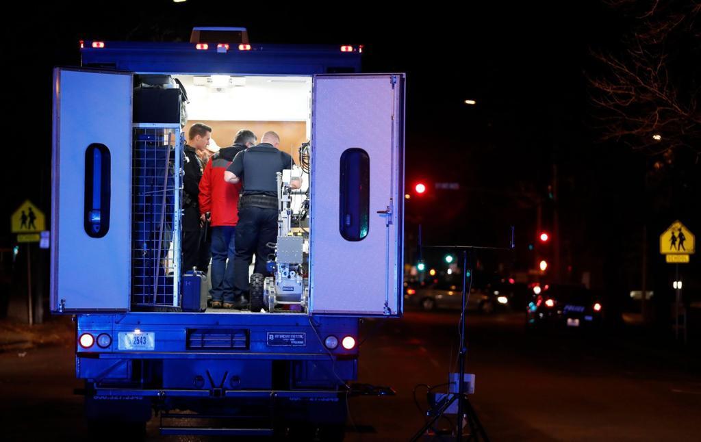 Bomb squad detonates 'hoax device' at television station in