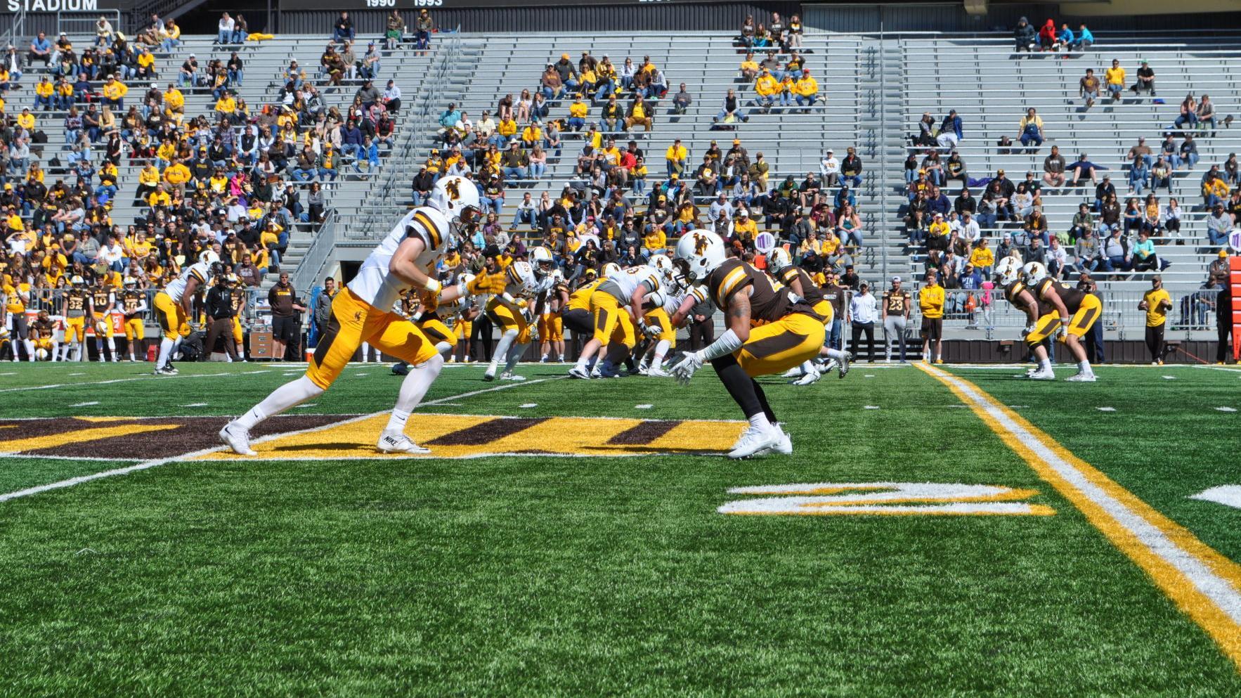 Wyoming football wraps up camp with Saturday's spring game at War Memorial Stadium