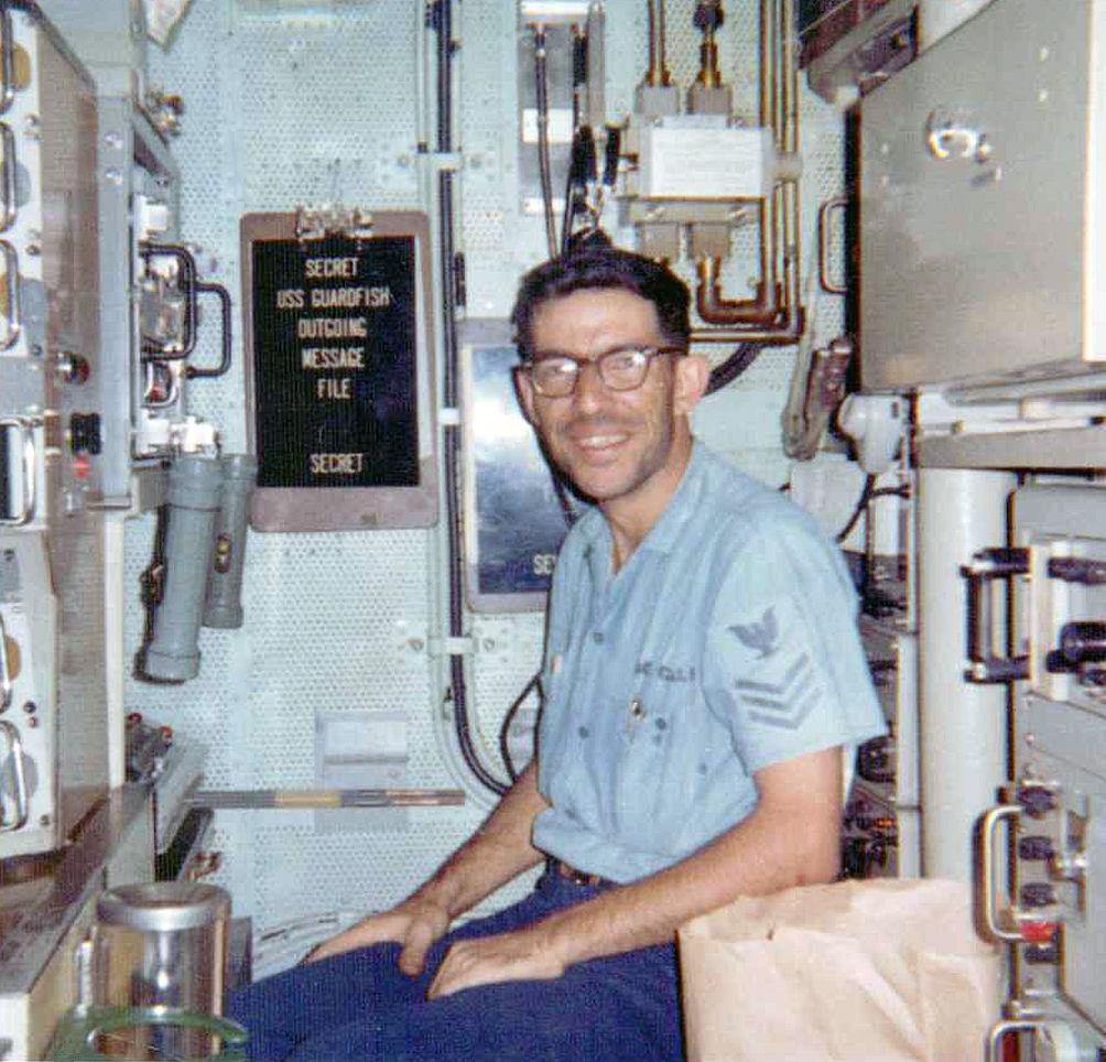 USS Guardfish radio shack