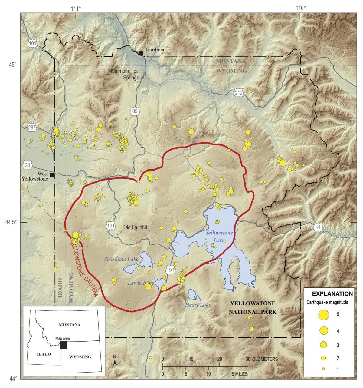 Yellowstone seismicity