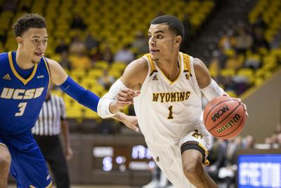 University of Wyoming vs UC-Santa Barbara at the Arena-Auditorium in Laramie, Wyoming on Nov. 6, 2018.