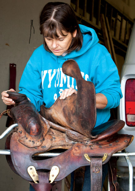 23, looking for mold and caked mud. The Boardwalk recently received five  saddles damaged during Colorado floods. Leatherworkers are working to  salvage ...