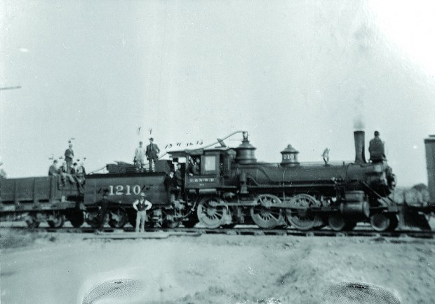 Chicago and North Western Train into Lander 1906