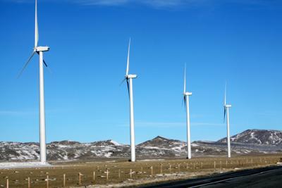 Wind turbines in Shirley Basin