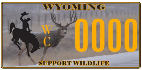 Wildlife conservation license plate
