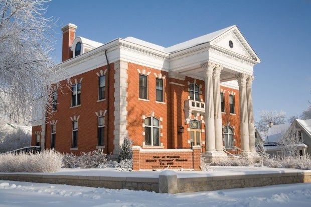 The Wyoming Governor's Mansion in Cheyenne, Wyoming on December 8, 2007.