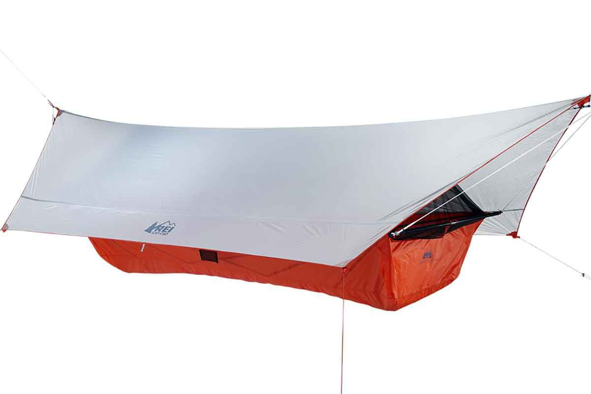 quarter dome hammock the gear junkie    rei introduces the tent to the hammock   open      rh   trib